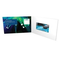 Free printing 5.0 inch LCD Screen video brochure cards for presentations, invites, direct marketing advertising and promotions