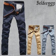 männlichen casual pants männlich herrenbekleidung hosen männer schlanke gerade freizeithosen(China (Mainland))