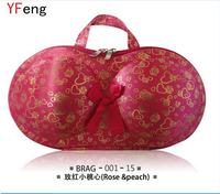 Hot seller pink heart Travel Bra Bag Underwear Case Travel Bra Case Organizer Bra Bag