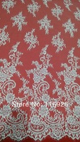French Lace Fabric with Eyelash ,Chantilly French Lace Fabric ,3 meters/pc