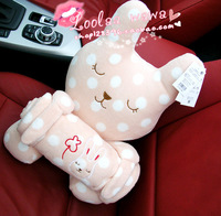 Polka dot rabbit doll blanket coral fleece air blanket towel blanket sierran blanket casual blanket child blanket 0.7kg