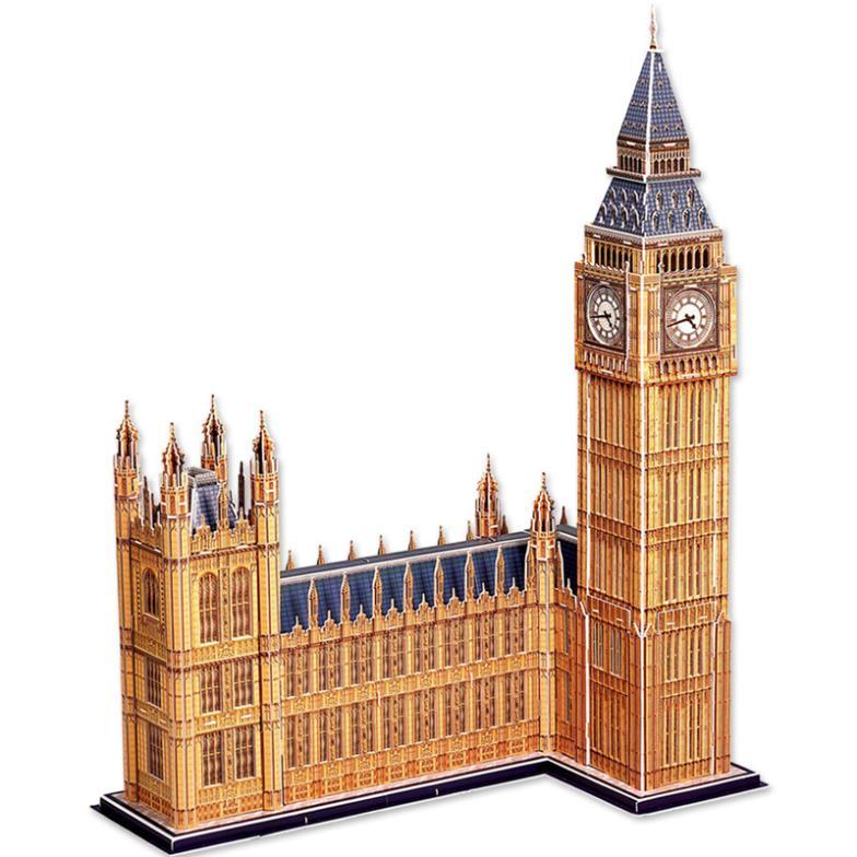 3 d puzzle simulation architecture model Big Ben in London paper ...