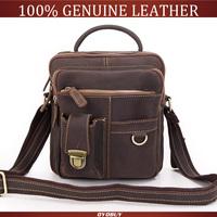 2014 New Arrival!! Quality Guaranteed Fashion Crazy Horse Genuine Leather Men Shoulder Messenger Bag Wholesale