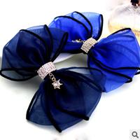 Cute DIY Wholeslae Retail 6pcs/lot Chiffon Hair Clip Bowknot Headwear Hair Accessory
