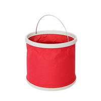 Outdoor folding 9l bucket camping car wash bucket portable bucket folding bucket car
