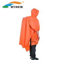 Rider raincoat ground cloth shade-shed backpack cover three-in hiking poncho