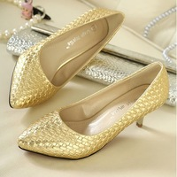 Drop/Free Shipping 2014 Thin Heel Pointed Loyal Blue Women's Pumps High Heels Vintage Sexy Women shoes 9cm size35-39