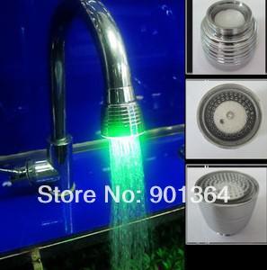 Large horn faucets Temperature Sensitive Type RGB ABS LED Bathroom Faucet Basin Mixer(China (Mainland))