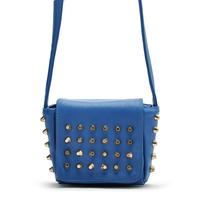 Nanfang girl os fashion vintage blue rivet small one shoulder cross-body handbag cross-body women's the trend handbag