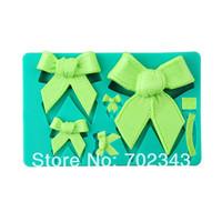Silicone Fondant cake decorating LOVELY bow shaped silicone mold