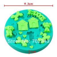 Silicone Soap Molds Cake Mould Fondant Decorations Dog Shape