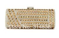 2014 new luxury high-end full diamond evening bag banquet bag clutch evening bag packet dress bag free shipping