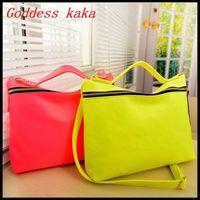New 2014 candy color women messenger bag Vintage postman handbag PU leather women shoulder bags free shipping G005
