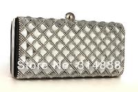 2014 The new high-end luxury full diamond evening bag evening bag clutch bag nightclub dress bags free shipping