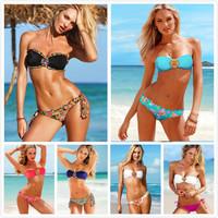 Wholesale - 2014 Female Monokini Diamond Bandeau Bikini Set Women Sexy Swimsuit Swimwear