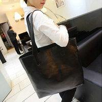 Women's handbag 2014 brief shoulder bag black women's bags picture of a large package
