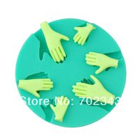 Free Shipping Silicone Fondant cake decoration Hand mould Soap mold