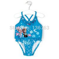 Frozen Swimsuit for girls UV protection swimwear children bathing suits kids swim suits 2014 New