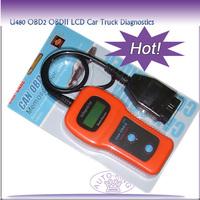 U480 OBD2 OBDII LCD Car Truck Diagnostic Scanner Fault Code Reader Scan New Free shipping