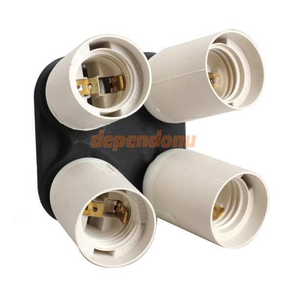 Преобразователь ламп 4 1 E27 Socket