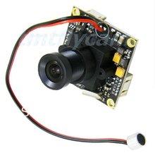 Hd 700TVL 1/3 polegadas Sony CCD Effio-e 960 H 3.6 mm / 6 mm / 8 mm lente olho de peixe placa PCB segurança CCTV minúsculo FPV áudio Mic a / v Mini câmera(China (Mainland))