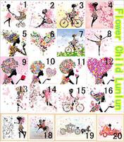Free shipping Fully rhinestone diamond painting laraine cartoon child pasted square diamonds floral fairy diy cross stitch kits