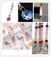 Min. order is $15 (mix order) 2221  lovers mobile phone chain crystal pendant charm  mobile phone rope