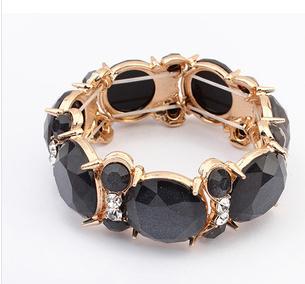 2015Free Shipping Fashion Personality High Elasticity Geometry Shape Rhinestone Bracelet(China (Mainland))