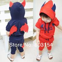 Wholesale children cartoon clothes suit fleece Kids coat FHoodie sets Free shipping