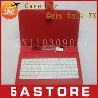 "FREE SHIPPING USB Keyboard & Leather Cover Case for Cube Talk 7X 7"" ips Screen MTK8382"