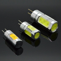 6 pcs Mini G4 LED Lamps 3W 5W 7W DC 12V Crystal Corn RV Reading Boat Bulbs Chandelier COB Spot Light  landscaping Aluminum