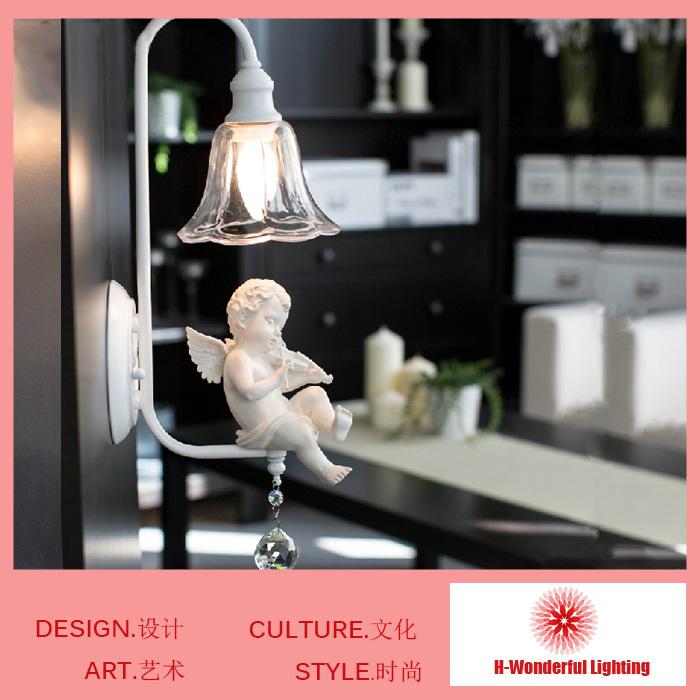2014 neue, moderne mode wand lampen harz& art eisen k9 kristall wand nachttischlampe e14 wand aufbauleuchten für kinderzimmer