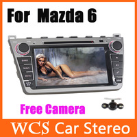 For Mazda 6,8 inch Car DVD palyer,support ipod iphone input,Wince 6.0 with GPS 4GB Free Map Card  Car Stereo Radio+ Free Camera