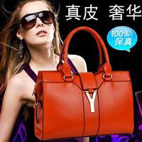 2014 fashionable casual women's fashion genuine leather handbag one shoulder handbag cross-body leather bag y