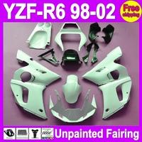 7gifts Unpainted Full Fairing Kit For YAMAHA YZF-R6 YZFR6 YZF600 YZF R6 600 98 99 00 01 02 1998 1999 2000 2001 2002 Fairings