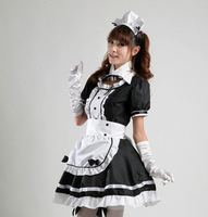 2014 New Brand Ruffle Maid Cosplay Dress Women/Novetly Summer Mini WomenCostume Women Dress/Desgual Clothing Women Costumes