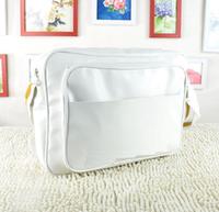 2 size white sports pu leather designer messager bags brand single shoulder Chic brand handbags men's football school sports bag