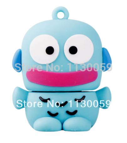 100% real capacity Loving Romantic monster fish cartoon 4gb/8gb/16gb/32gb bulk usb flash drive 2.0 stick pen drive free shipping(China (Mainland))