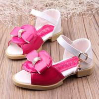 2014 shoes diamond sandals princess female child leather shoes open toe shoe sandals baby shoes