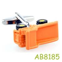 Fashion personality orange  truck men's shirt cuflinks  AB8753