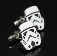 2014  fashion Samurai Star Wars Cuff links Cufflinks