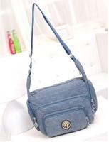 Free Shipping Kip Handbags Durable Crinkle Nylon Tote Shoulder Messenger Bags Women's Shopping Bags 5 Colors For Choose