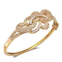 2014 Luxury bangle 18K gold filled women's fashion bracelet Brand Vintage Love accessories