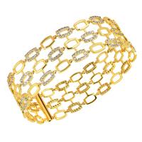 2014 Style Vintage Bangle 18k gold / Platinum AAA Cubic Zircon for female girl ladies bracelet luxury design accessories gift