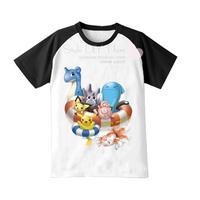 Pokemon cartoon short-sleeve t-shirt summer child short-sleeve t-shirt family fashion child clothing