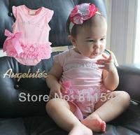 4pcs/lot Wholesale Pink Fantasias Infantil Baby Romper for Girl Jumpsuit 2014 New Born Infant Clothes Bebe Clothing Outerwear