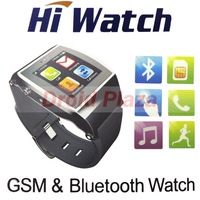 "HiWatch Smartwatch GSM & Bluetooth Smart Watch Phone 1.55"" IPS Touchscreen Remote Camera Anti-Lost Pedometer FM Notice Phonebook"