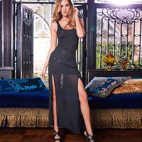 Fashion fashion ladies women's sleeveless suspenders usuginu ball sweep sexy one-piece dress 6239