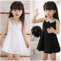 Free shipping 2014 NEW children's clothing girl child lace  dress summer child short skirt little girl skirt baby princess dress