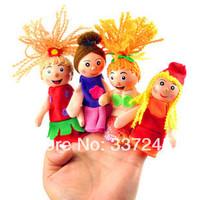 4pcs/lot Pretty Little Mermaid Christmas Animal Finger Puppet,Finger toy,finger doll , Baby Toys Free Shipping